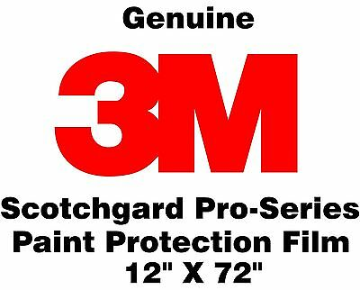 "Genuine 3M Scotchgard Pro Series Paint Protection Film Clear Bra Roll 12"" x 72"""