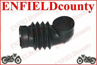 New Black Rubber Air Hose Pipe L Bend Unit For Lambretta Gp Dl Scoots 22Mm