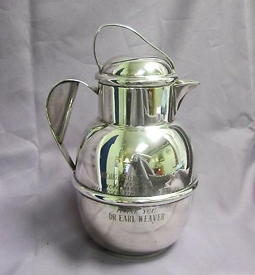 L.G. Balfour Co. EPB Silver Plate Lidded Pitcher Michigan Jersey Cow Breeder