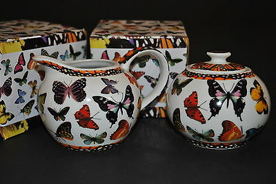 PAUL CARDEW BUTTERFLIES Covered Sugar BOWL  & CREAMER GIFT Box