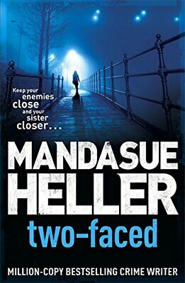 Two-Faced by Heller, Mandasue Paperback Book The Cheap Fast Free Post