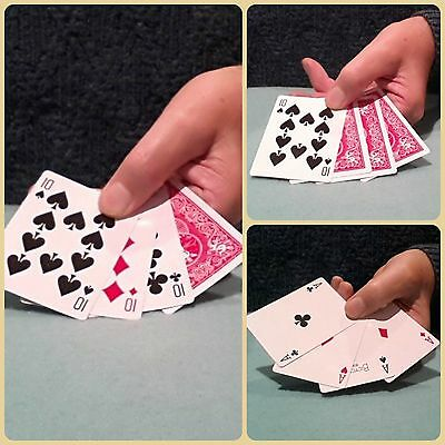 Magic Card Tricks - CARDS MAGICALLY REVERSE AND TURN INTO ACES (Watch Video)