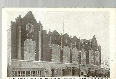 Postcard Knights of Columbus Building Chicago Garfield Park