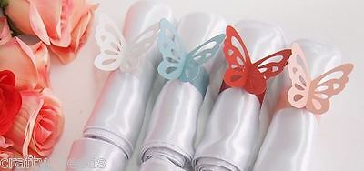 6PC - NAPKIN  RINGS  PINK  Paper  BUTTERFLY Napkin Rings