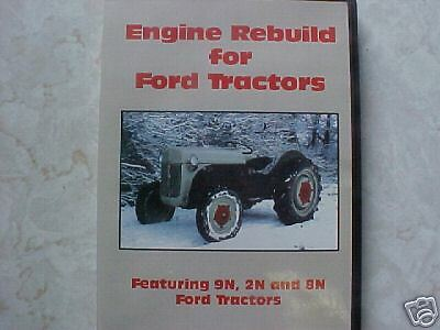 FORD TRACTOR engine rebuild Guide DVD 2N 8N and 9N