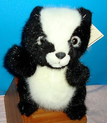 "New With Tags ""Punky"" Skunk Caress Soft Pet 8"" Stuffed Animal Plushie"