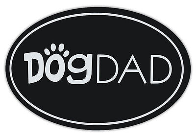 Oval Shaped Pet Magnets: DOG DAD (Dogs) | Cars, Trucks, Refrigerators