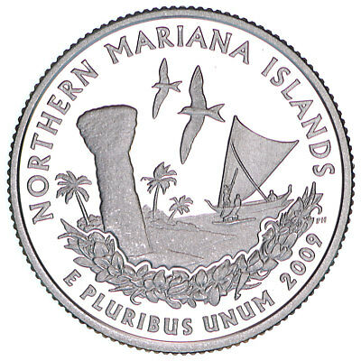 2009 S Territories Quarter Northern Mariana Islands Gem Proof DCam 90% Silver