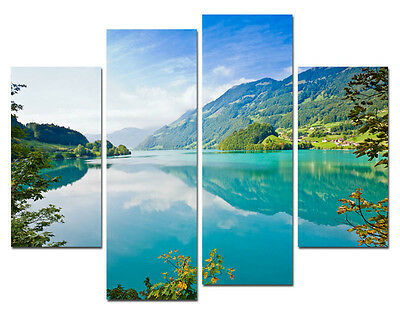 Peaceful Lake Modern Wall Art On Top Canvas Oil Painting (NO Frame)