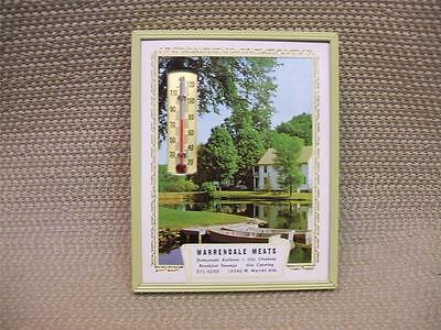 ADVERTISING THERMOMETER CALENDAR 1973 NEW IN BOX Warrendale Meats  CITYSCAPE 59