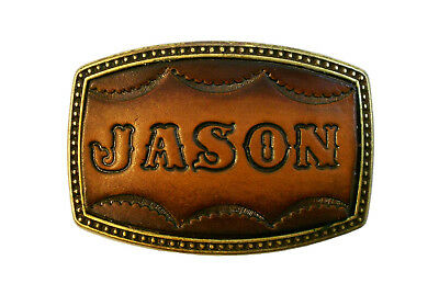 Custom Tooled Leather Belt Buckle, MADE to ORDER, Names or Initials, 6 Letters