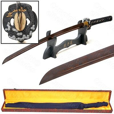 Musashi Hand Forged Folded RED Damascus Steel Samurai Katana Sword Razor Sharp