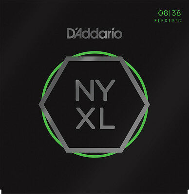 D'Addario NYXL 08-38 Extra Super Light Gauge Electric Guitar Strings NYXL0838