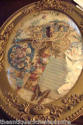 Victorian Memento Shadow Box, old Valantine cards, over 100 years old[4]