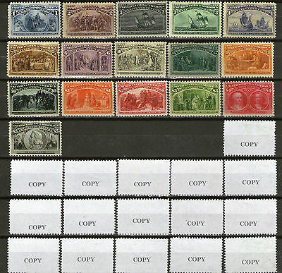 COPY US stamps Columbian Exposition 1893 REPLICA,FORGERY,NOT REAL