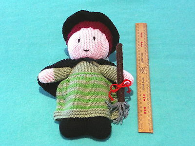 "NOVELTY GIFTS IDEAS - Knitted Soft Toys - ""Wendy the Friendly Witch"""