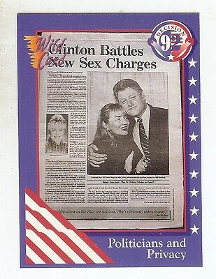 CLINTON BATTLES NEW SEX CHARGES 1992 Wild Card Election '92 w/HILLARY RODHAM