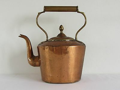 Antique Kettle **Copper & Brass** Hand Beaten with Dovetail Joints