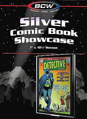 Silver Comic Showcase Display Case  Wall Mount Frame BCW Storage Supplies