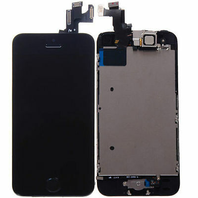Black LCD Lens Touch Screen Display Digitizer Assembly Replacement for iPhone 5S