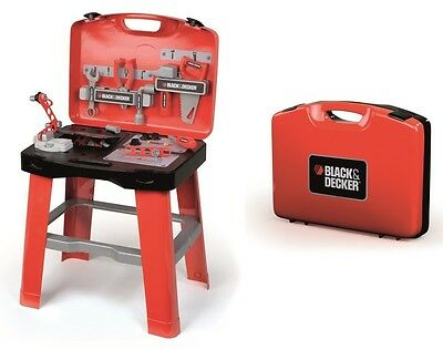 Smoby Black & Decker Ready 2 Go Kids Foldable Tool Set Workbench *fast Delivery*