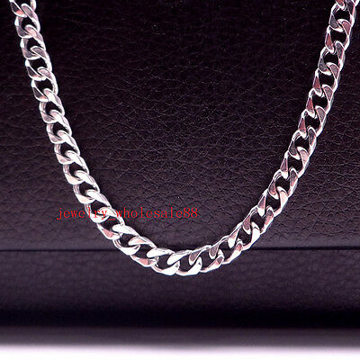 5pcs/Lot Fashion Men's Polished Curb Link Chain Necklace Stainless steel in bulk