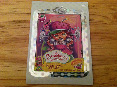WACKY PACKAGES 2012 ANS9 SILVER FLASH FOIL STRAWBERRY SHORTFUSE SHORTCAKE 10 HUH