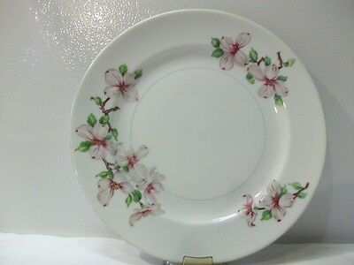 Hira China Occupied Japan Salad Plate in Dogwood Pattern