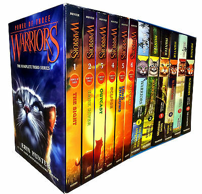 Warrior Cats Collection Erin Hunter 12 Books Set Power of Three, Omen of Stars