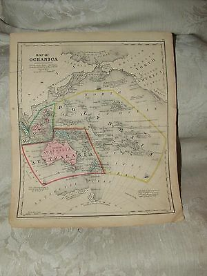 1848 MAP Oceanica Cady & Burgess Roswell C Smith from Quarto Geography