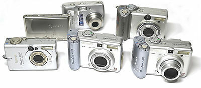 Lot of 6- digital cameras Canon power shot, Nikon, Sony FOR PARTS OR REPAIR