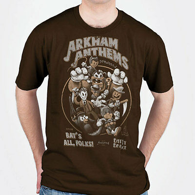 "Batman / vintage cartoon ""Bat's All, Folk"", parody t-shirt with joker & catwoman"