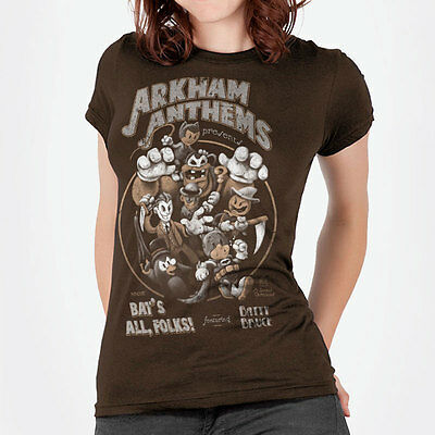 "Batman / vintage cartoon ""Bat's All, Folks"" parody t-shirt with joker & catwoman"