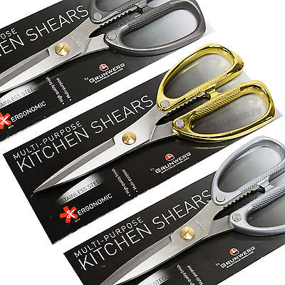 Grunwerg Stainless Steel Metal Handle General Purpose Kitchen Scissors Shears