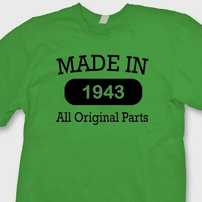 Made In 1943 Funny T-shirt Vintage Tee  Birthday Novelty Gift Tee Shirt