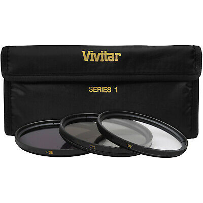 Vivitar 52mm 3-Piece UV/CPL/ND8 Filter Kit for Digital SLR Camera & Lens NEW