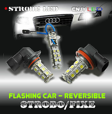 1 Ampoule Anti-Brouillard A Led Strobo Reversible Flick/flack Flash Pacecar Us