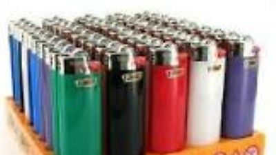 50 Mini Bic Lighters  50 ct assort Colors Child Proof New Made In USA