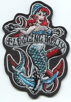 FLOGGING MOLLY mermaid EMBROIDERED PATCH **FREE SHIPPING** iron/sew on