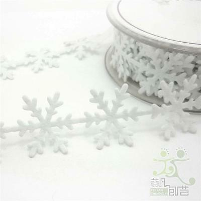 1M or 5M White Snowflake Ribbon Trimming Craft Embellish Sewing Cards DIY Gift