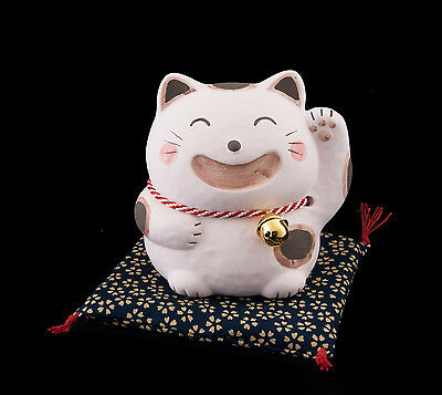 Tirelire Chat Japonais 9 Cm Porte Bonheur Maneki Neko Made In Japan Rose  38