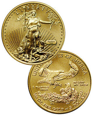 RANDOM DATE - 1/10 Troy Oz Fine Gold American Eagle $5 Coin SKU26123