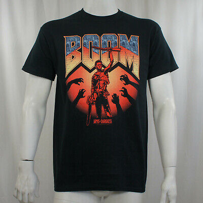 Authentic ARMY OF DARKNESS Boom Ash Boomstick Doom Logo T-Shirt S-XXL NEW