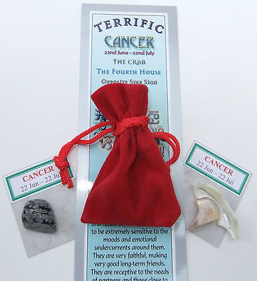 CANCER-Bookmark-Birthstones-Red Velvet pouch-'Astrology the Secret Code' book
