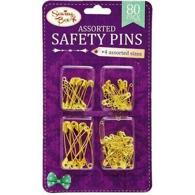 Assorted Golden /& Silver Safety Pin Pack of Assorted Size Pins sold by eTrendz