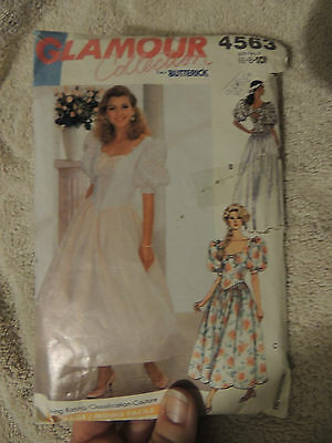 Butterick Glamour Collection Formal Dress Pattern #4563 Size 6-8-10 Cut,Complete