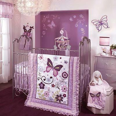 Butterfly Lane 5 Piece Baby Crib Bedding Set by Lambs & Ivy