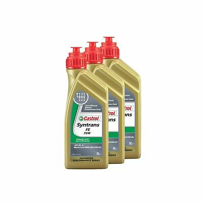 Castrol Syntrans FE 75W Fully Synthetic GL4 Manual Gear Oil 3 Litres (3 x 1L)