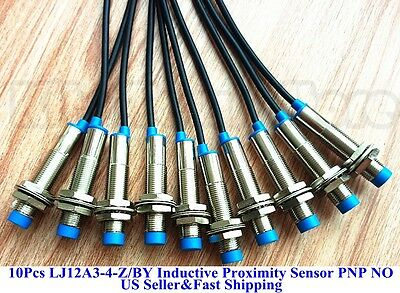 10 PCS New LJ12A3-4-Z/BY Inductive Proximity Sensor Switch PNP DC6-36V US