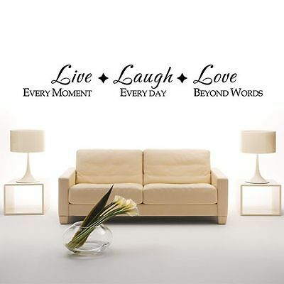 Love live laugh Vinyl Wall Decal Quote Sticker letter Art Decor living room home